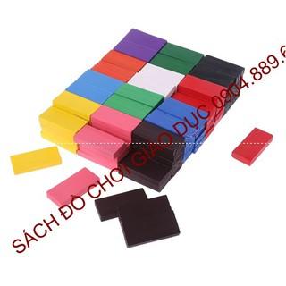 Bộ đồ chơi domino gỗ nhiều màu 120 quân