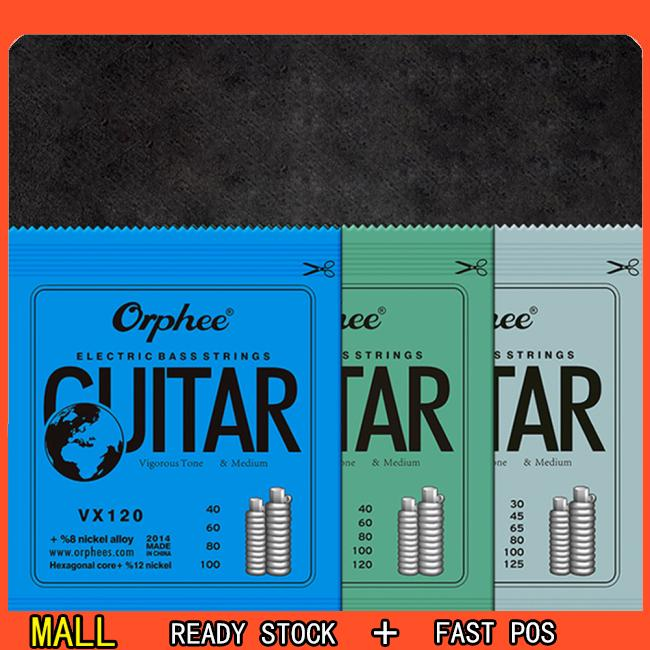Orphee VX Series 4/5/6 pcs Electric Bass Strings Hexagonal Steel Nickel Alloy Wire Medium Light