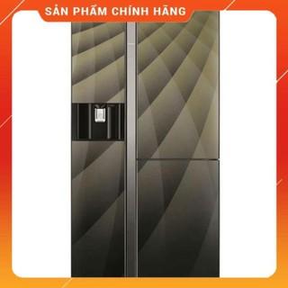 [ FREESHIP KHU VỰC HÀ NỘI ] Tủ lạnh Hitachi  side by side 3 cửa màu gương sọc R-FM800AGPGV4X(DIA)
