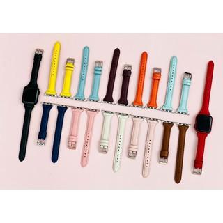 Dây đeo Apple Watch da xịn bản nhỏ dành cho nữ series 1 2 3 4 5 6 size 38/40mm 42/44mm bảng màu mới nhất