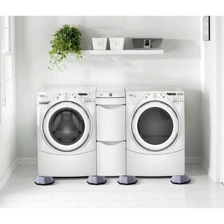 ( Đế máy giặt ) Bộ 4 Miếng đệm cao su, Lót chân máy giặt, Chống ồn, Chống rung, Chống trơn trượt cho máy giặt, tủ,bàn