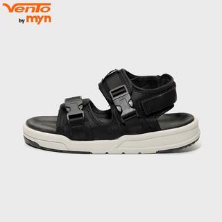 Giày Sandal Vento Nam Nữ Unisex - H1002 Đen ghi