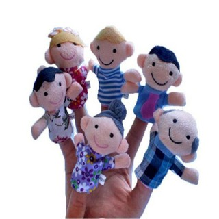 babyzone6PCS Lovely Baby Kids Plush Play Game Toys Family Finger Puppet
