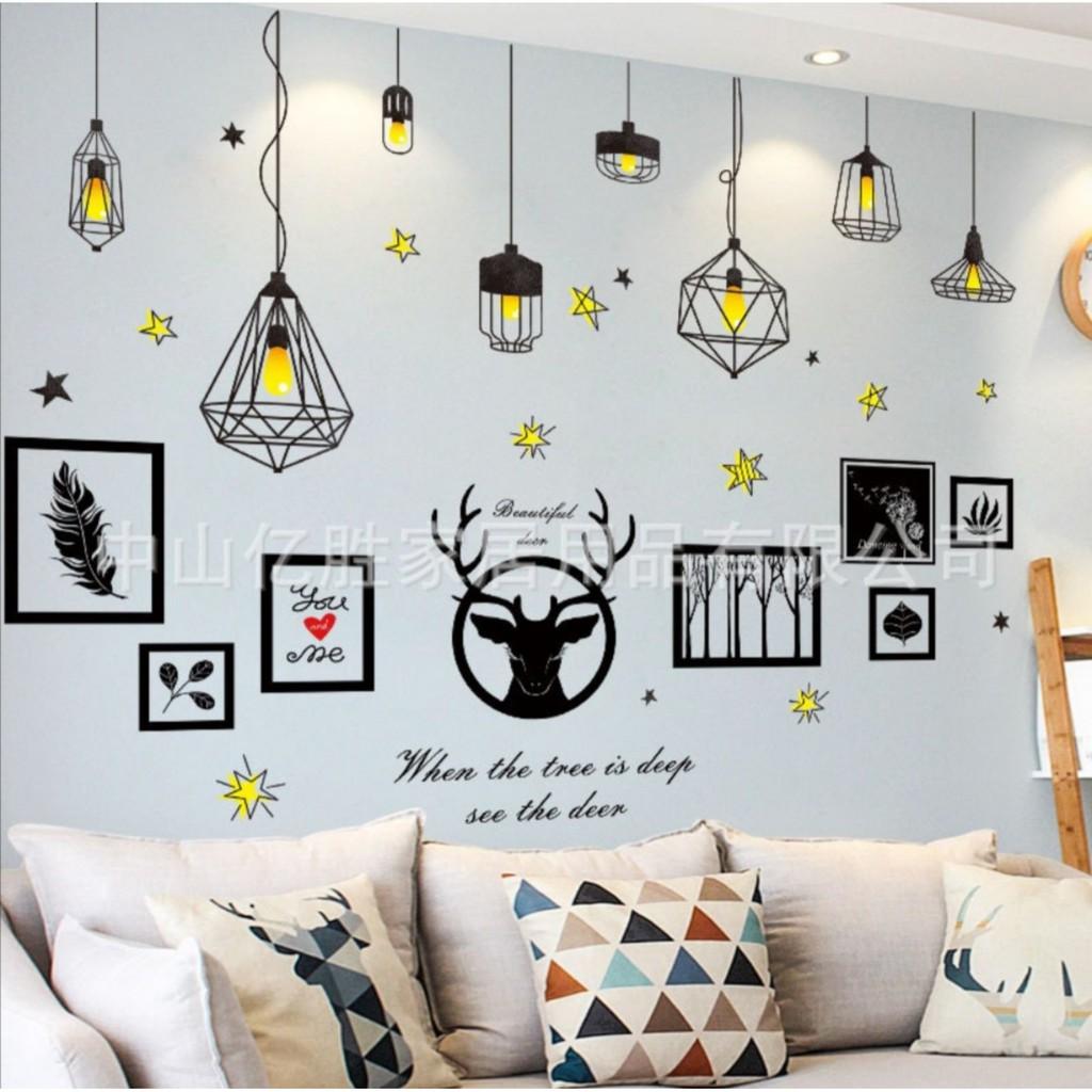 [ĐỒNG GIÁ] Tranh decal dán tường phong decor phòng ngủ- phòng khách trang trí theo phong cách 3D hiện đại