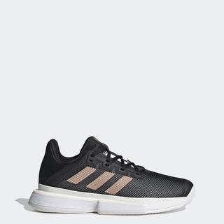 Giày adidas TENNIS sân cứng SoleMatch Bounce Nữ Màu đen FU8125 thumbnail