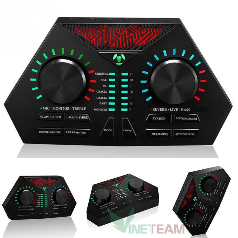 Mic thu âm MAX 730 Có Auto-Tune, Pin Sạc - Hát Karaoke Live Stream