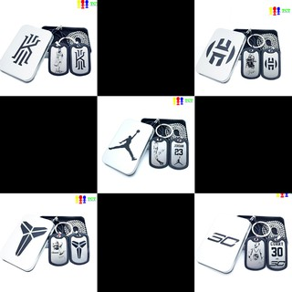 Combo dây chuyền - móc chìa khóa cầu thủ bóng rổ Curry, Kobe, Ivring, Jordan, Hardens thumbnail