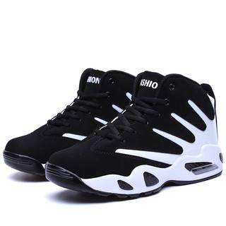 YOZOH air cushion basketball shoes couple black white size 36-44 thumbnail