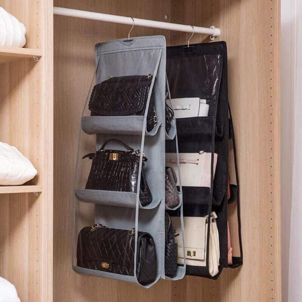 [Free Ship] Túi treo giỏ xách 6 ngăn đa năng cao cấp chắn bụi tiện dụng