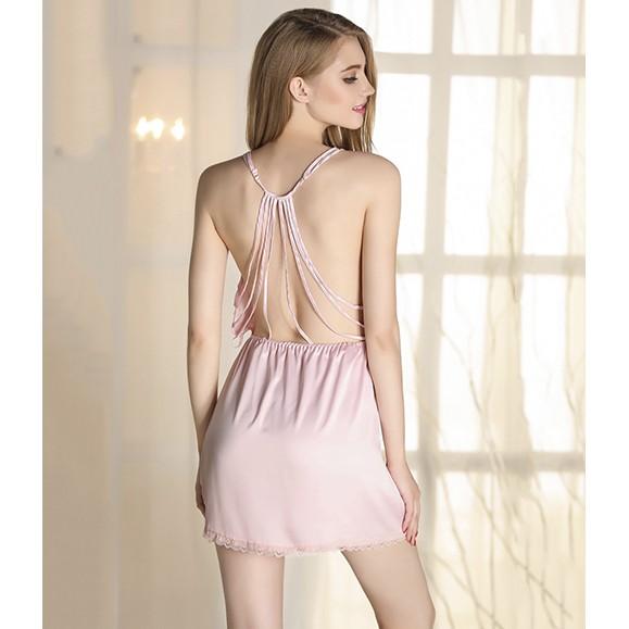 Váy Ngủ Nữ Lụa Lưng 8 Dây Thương Hiệu Vingo