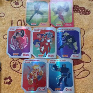 Thẻ Siêu anh hùng combo 8 thẻ (Tặng 3 thẻ ngẫu nhiên)