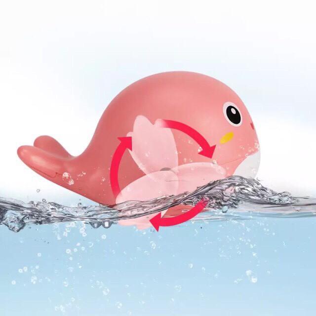 Thú bơi vui nhộn vặn cót hình cá voi con - chạy nhẩy vui nhộn cùng bé siêu đáng yêu
