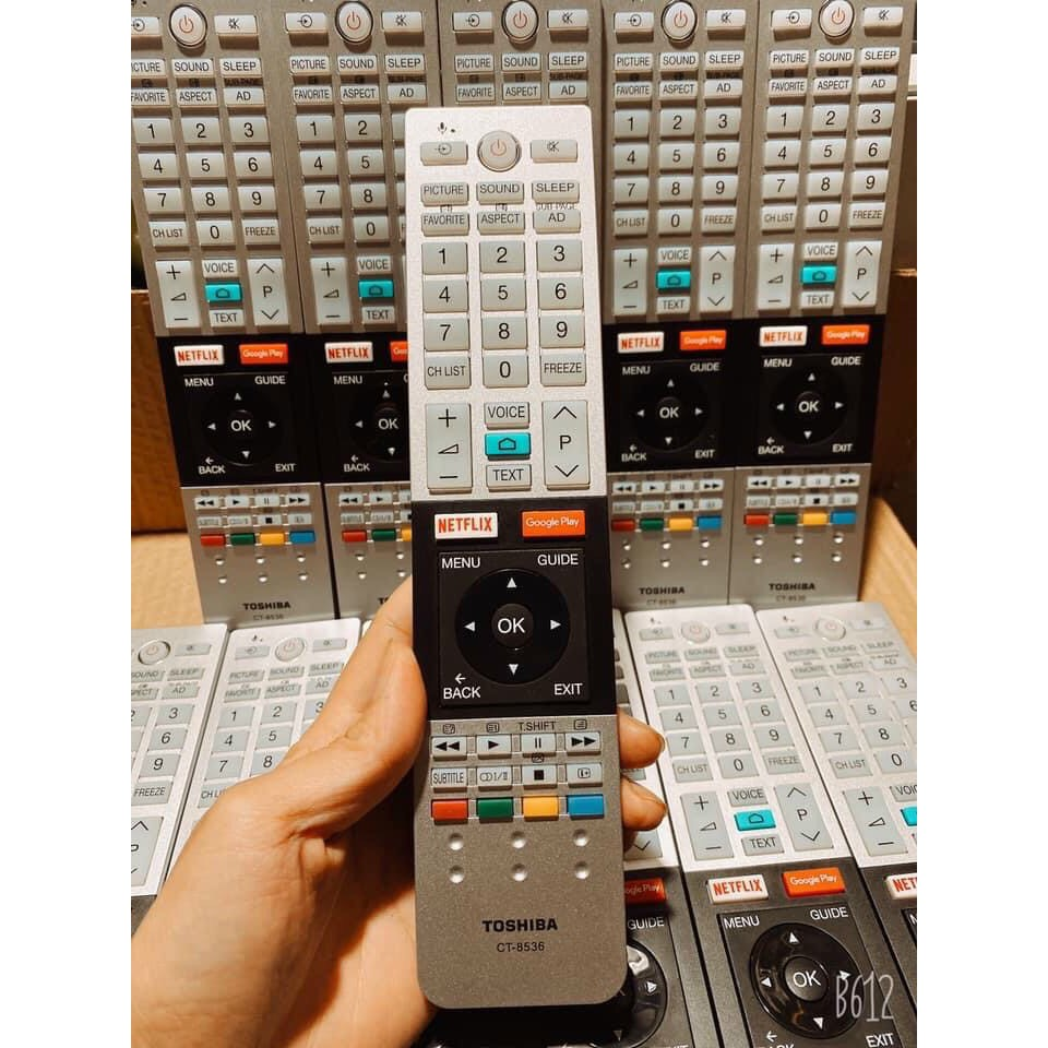 [Mã 267ELSALE hoàn 7% đơn 300K] khiển tivi toshiba giọng nói chính hãng