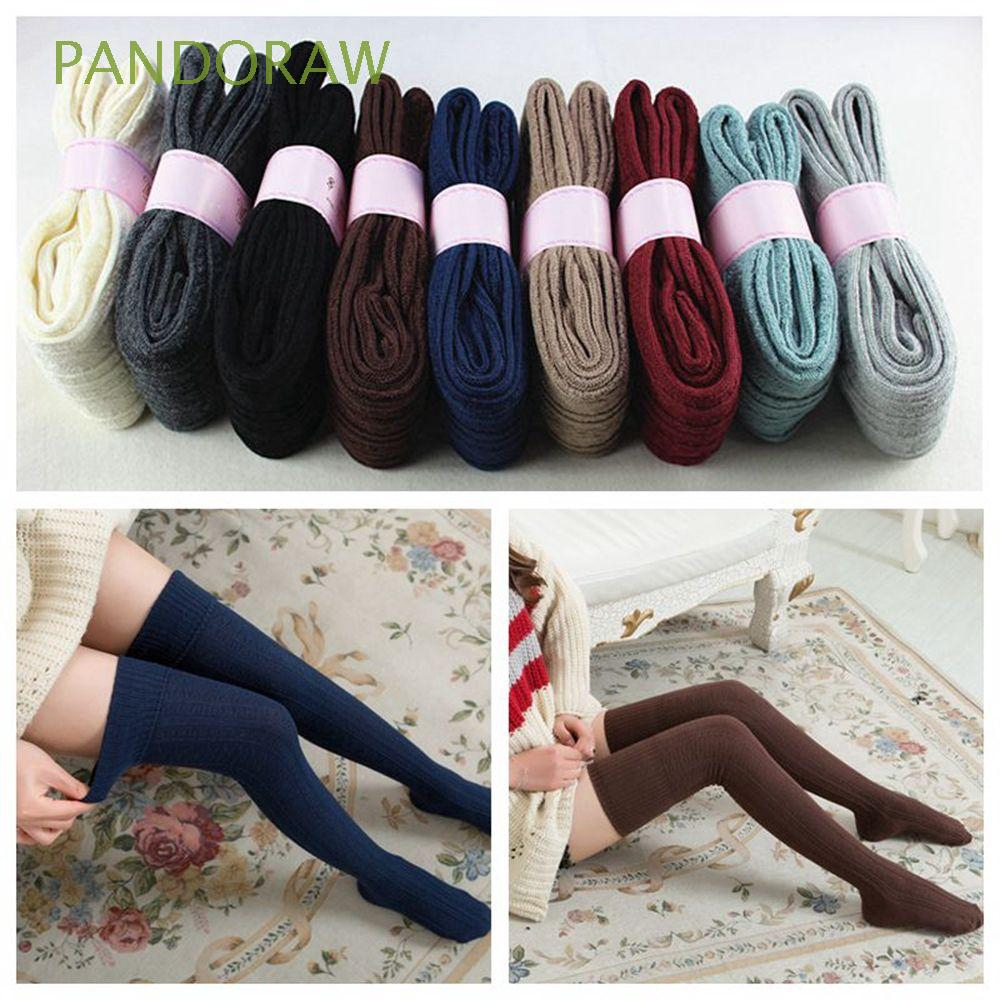 Fashion Women Winter Cotton Thigh Tights Knit Stockings