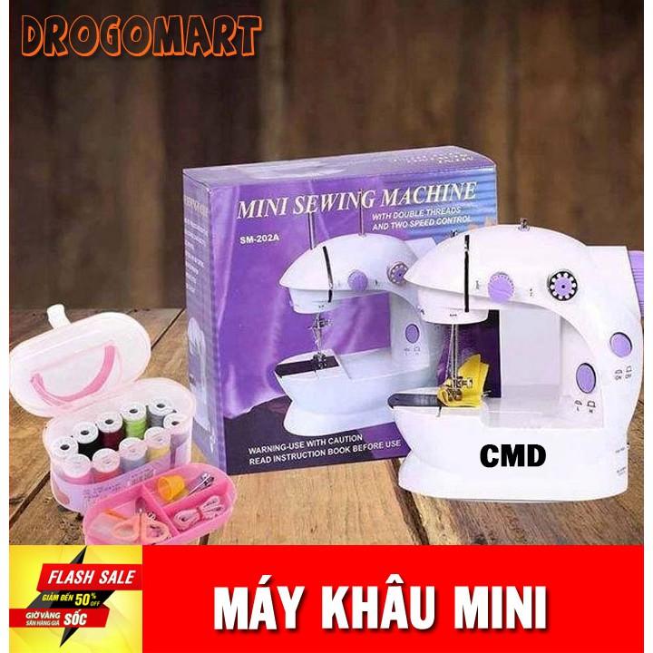 ( FREESHIP 99K ) Máy khâu mini gia đình cầm tay tiện dụng Máy may CMD hỗ trợ may vá Bảo Hành 6 tháng