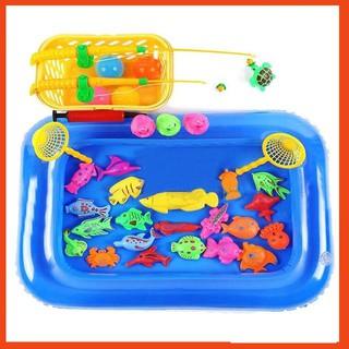 Bộ đồ chơi câu cá kèm bể phao cho bé 21 con vật- Hình Thật 👌❤👌