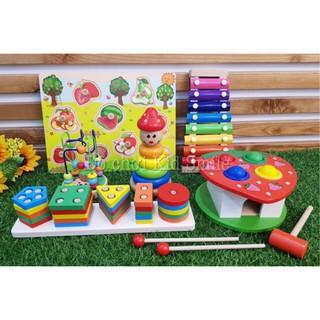 Combo set 6 bộ đồ chơi giáo dục