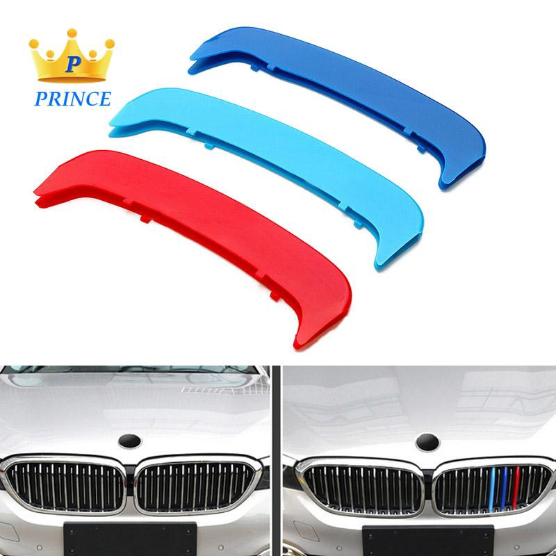 Ready Stock BMW 3-Series E46 Coupe 1998-2002 Grille Cover Strip 3pcs ABS Grill Bar Fashion
