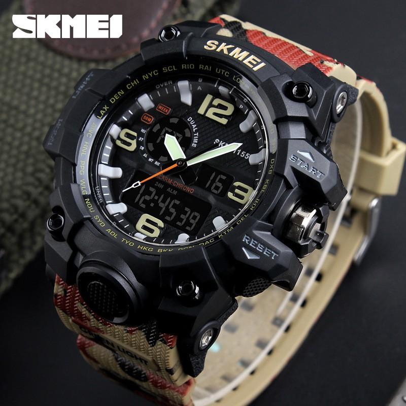 Đồng hồ thể thao nam Skmei quân đội rằn ri camouFlage S1155