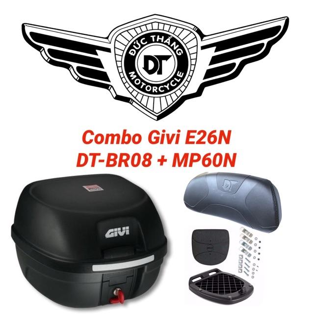 COMBO GIVI E26N + Tựa Lưng DT-BR08 + Đế MP60N