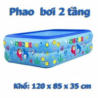 BỂ BƠI, PHAO BƠI TRẺ EM 1,2M CHỮ NHẬT 2 TẦNG