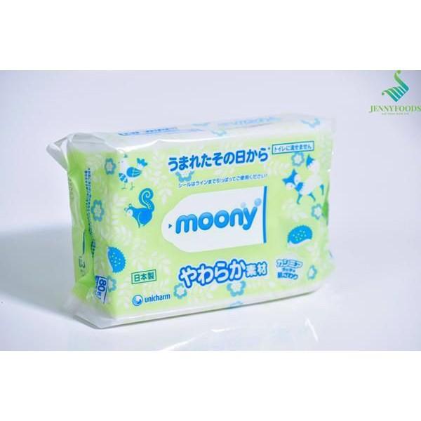 ( HANG HOT ) (HP123)   [Hà Nam] Giấy Ướt Moony Nhật 80 tờ 99% Nước Tinh Khiết  NTM94