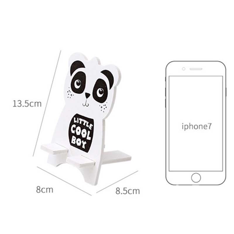 Giá đỡ điện thoại gỗ Puha tránh mỏi tay họa tiết cute dễ thương.