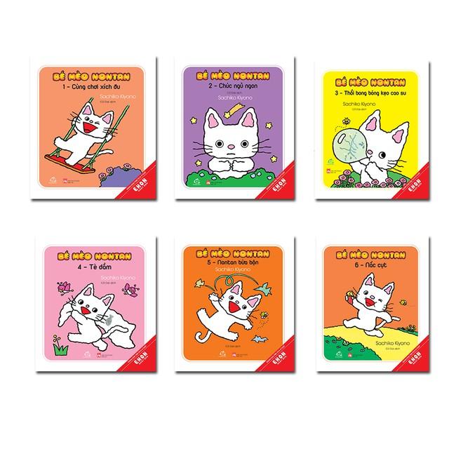 Sách - Combo 6 tập Bé Mèo Nontan