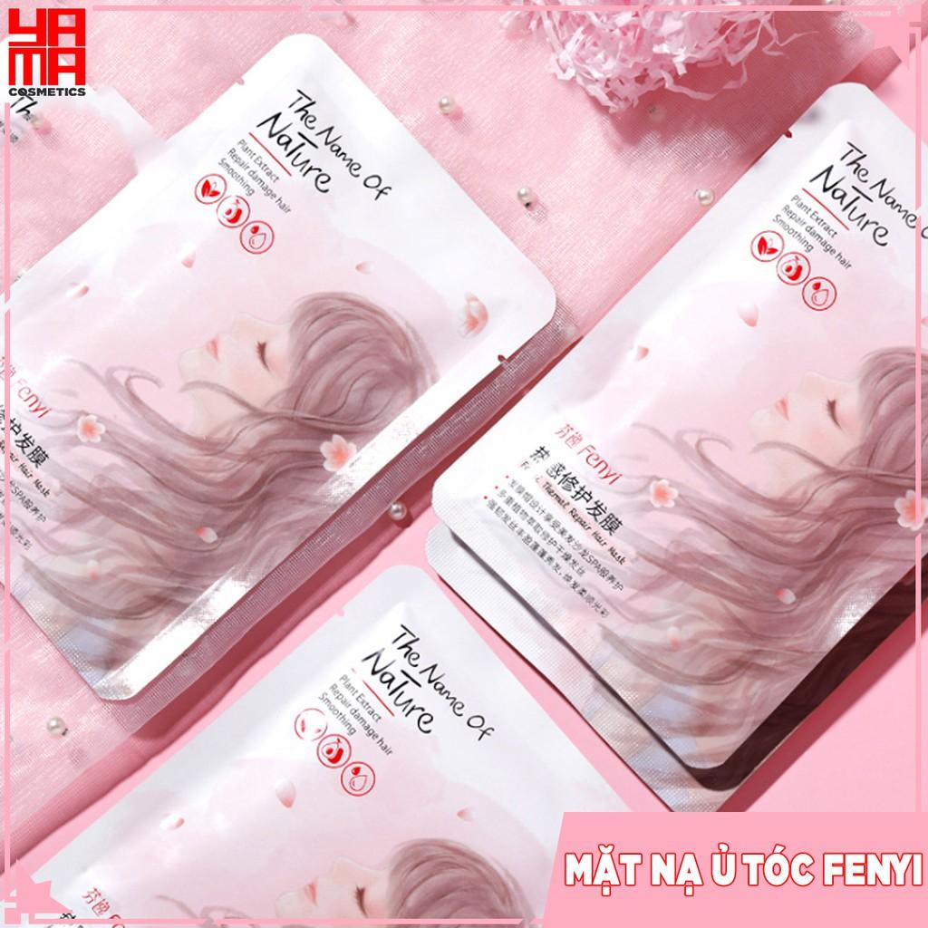 Mặt nạ ủ tóc FENYI bóng mượt giảm gãy rụng - đã bao gồm khăn ủ trong mỗi gói