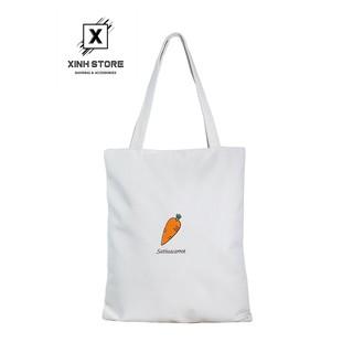 Túi Vải Đeo Vai Tote Bag Cà Rot XinhStore