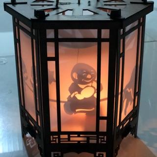 Lồng đèn kéo quân gỗ 24cm