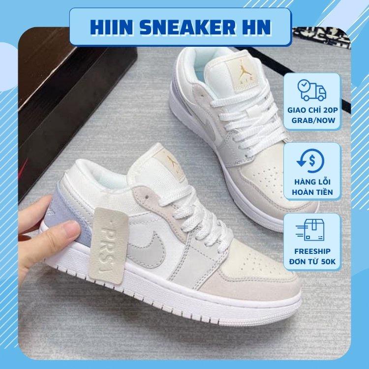Giày 𝐉𝐨𝐫𝐝𝐚𝐧 1 low paris màu xám xanh nam nữ, Giày sneaker JD 1 paris cổ thấp bản đẹp Full Box Bill