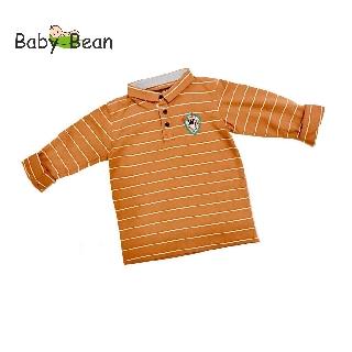 Áo thun cotton tay dài Sọc Ngang cá tính bé trai BabyBean