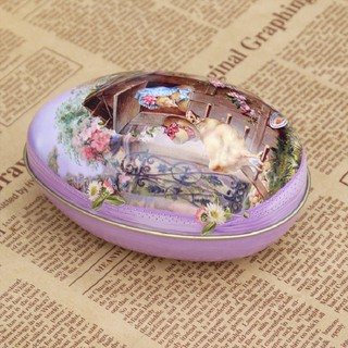Box Easter Eggs Cute Tin Color Random Painted Accessory