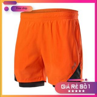 [XẢ HÀNG] Quần chạy bộ nam ARSUXEO MS04, quần short thể thao 2 lớp (boxer) với thiết kế 4 túi siêu tiện lợi