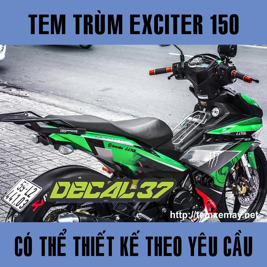 Tem Trùm Exciter 150 Duke xanh Đẹp