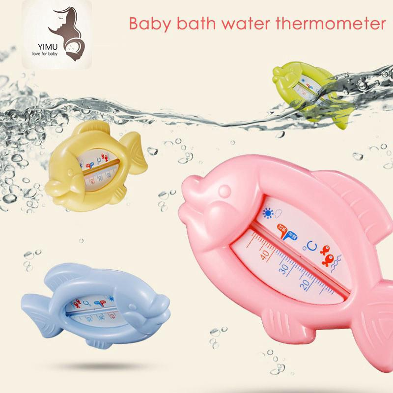 Drink Float Thermometer Plastic Fish Toy Baby Wash Water Temperature Meter