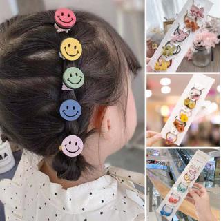 5Pairs/Set Kids Girls Cute Cartoon Elastic Hair Bands Scrunchies Ponytail Holder