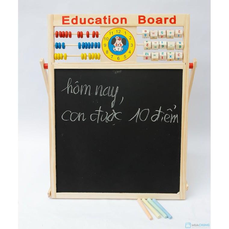 [SALE OFF] Bảng từ 2 mặt education Board và bộ số kèm bảng gỗ có núm phương tiện - RẺ...