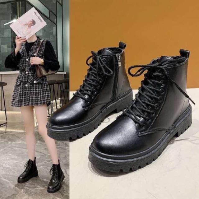 [Mã FASHIONXANH44 giảm 10% tối đa 30k đơn từ 99k] Boot Nữ 👢Freeship👢 Giày bốt ullzang bibi siêu hót