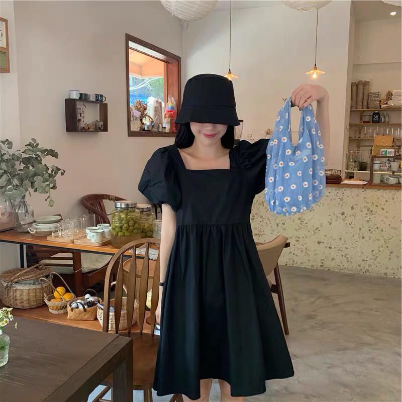 Mặc gì đẹp: Sang chảnh với Váy xoè cổ vuông, đầm dự tiệc tay phồng thiết kế xixeoshop - V4
