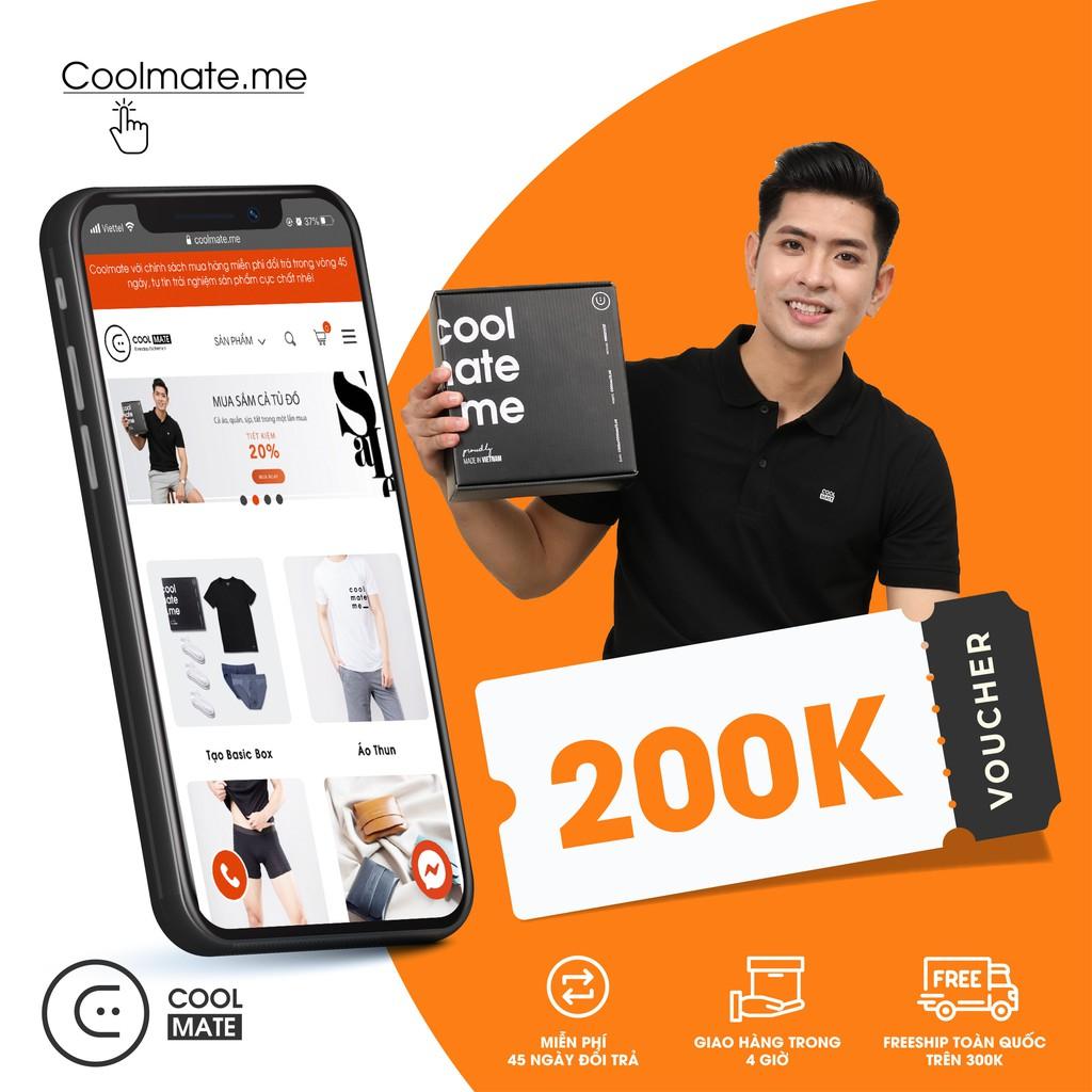 Coolmate - Mã giảm 200K mua quần áo tại web Coolmate.me
