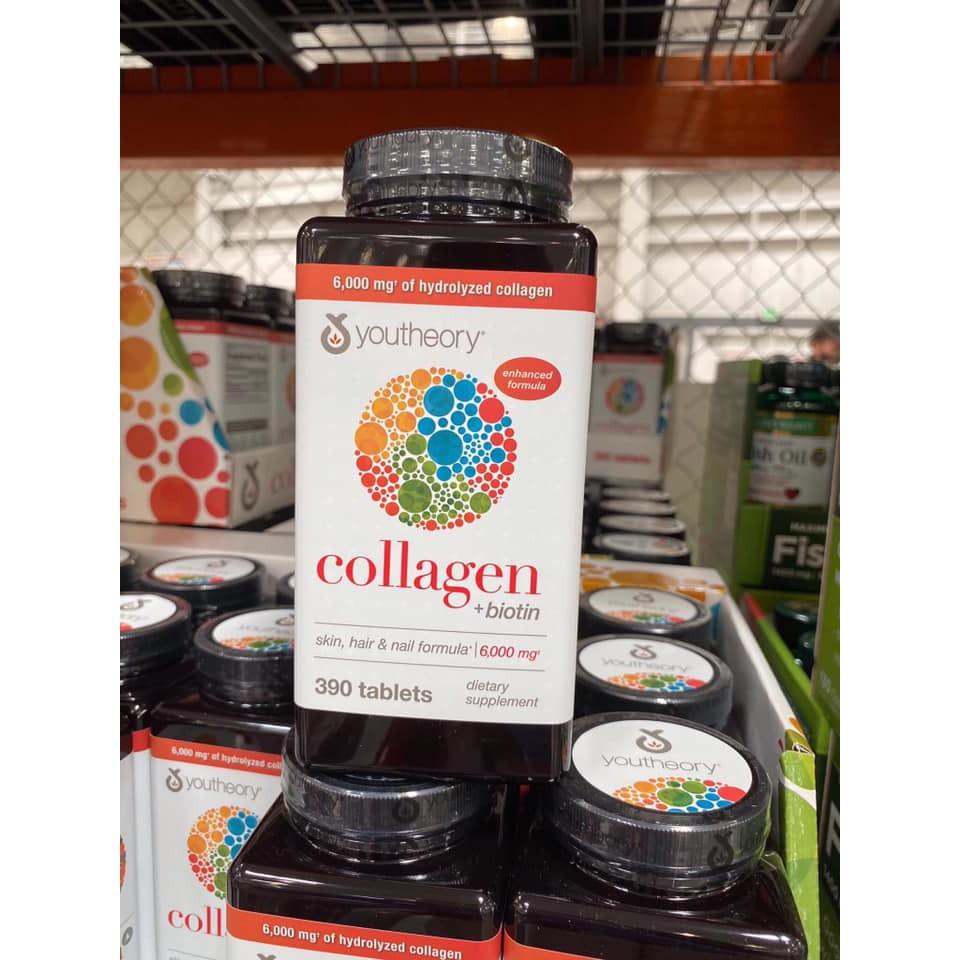 Viên Uống Youtheory Collagen 390 Viên collagen Type 1,2&3