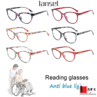 ❤LANSEL❤ Women Anti-blue Light Glasses Classic Printing Presbyopia Eyeglasses Optical Eyewear Vision Care Fashion Retro Vintage Computer Goggles