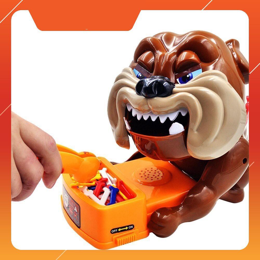 [CÓ SẴN] Trò chơi Chó giữ xương – Trộm xương chó Loại lớn: Dùng pin, có nhạc (loại gắp xương)