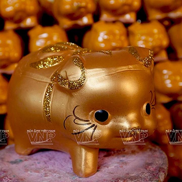 Heo đất, lợn đất tiết kiệm - size trung dài 18cm - quà tặng sinh nhật