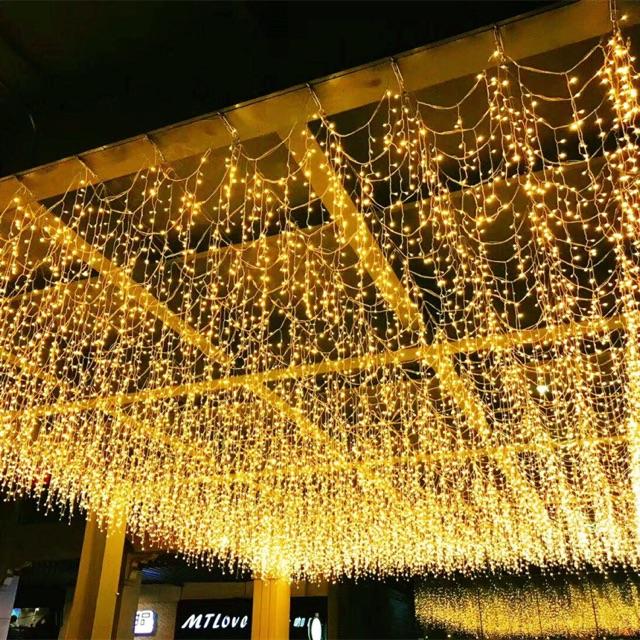 Đèn nháy rèm 4 mét x 0,6m trang trí , đèn rèm 4x0,6m