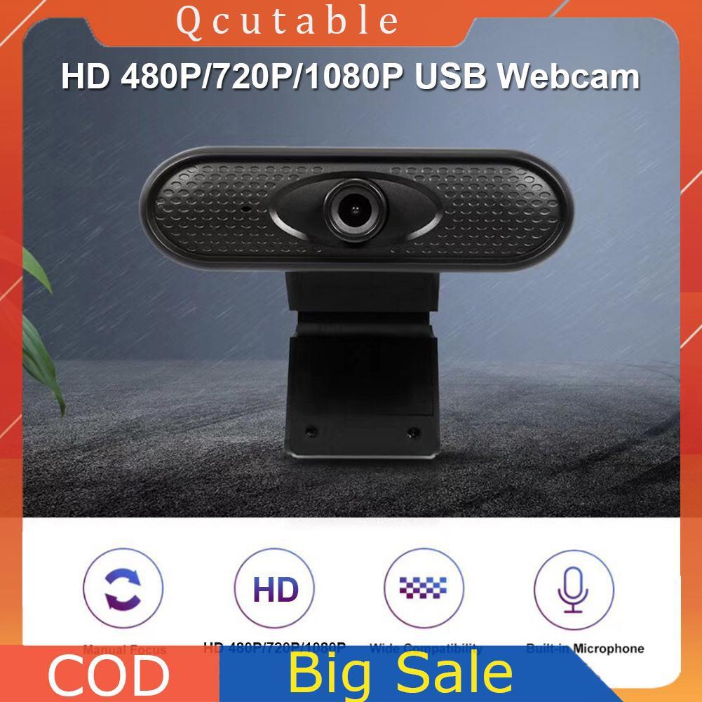 Webcam Hd 480p 720p 1080p Kèm Mic Cho Máy Tính