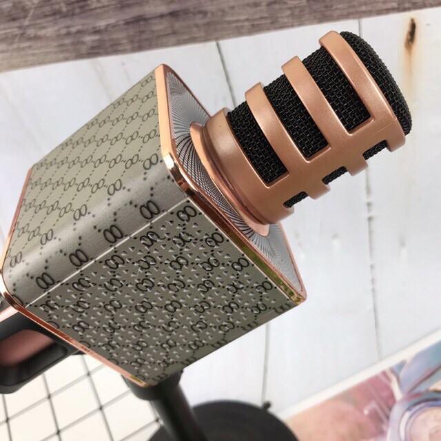 Micro Karaoke Bluetooth GUTEK SD18 Kèm Loa Không Dây, Âm Thanh Hay Mic Hút, Đầu Bọc Bảo Vệ Mic, Cắm Usb Thẻ Nhớ Cổng 3.5