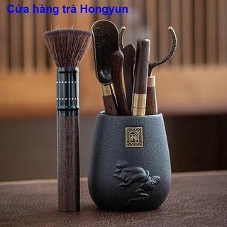 Phụ kiện bộ trà Kung Fu gỗ mun gỗ rắn Lễ trà sáu quý ông Bộ Daquan 6 quý ông Dụng cụ pha trà Kẹp trà Kim thumbnail